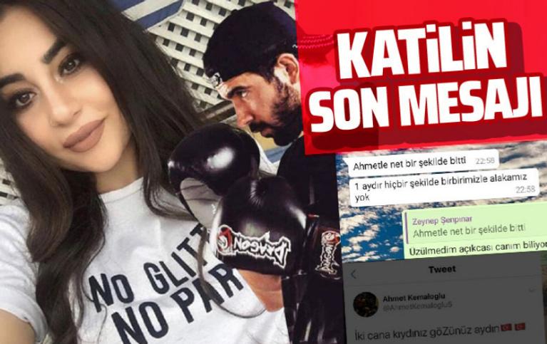 Katil milli boksör ve öldürdüğü sevgilisinin son mesajları ortaya çıktı
