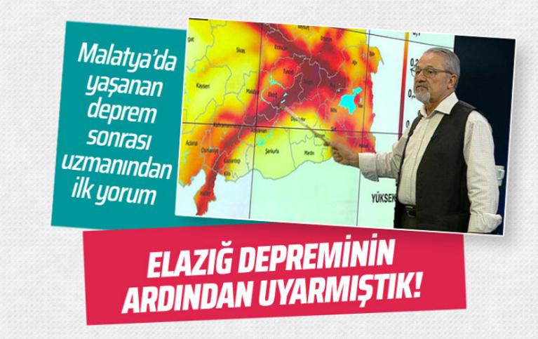 Naci Görür'den Malatya'daki depremle ilgili ilk değerlendirme