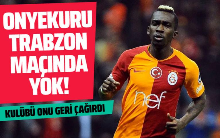 Onyekuru, Trabzonspor maçında oynayamayacak