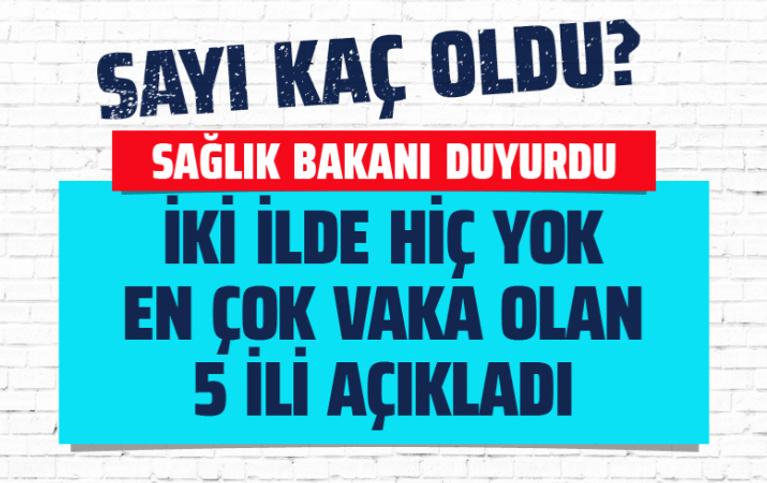 Türkiye'de koronavirüs vaka sayısı kaç oldu? Fahrettin Koca 5 ili açıkladı