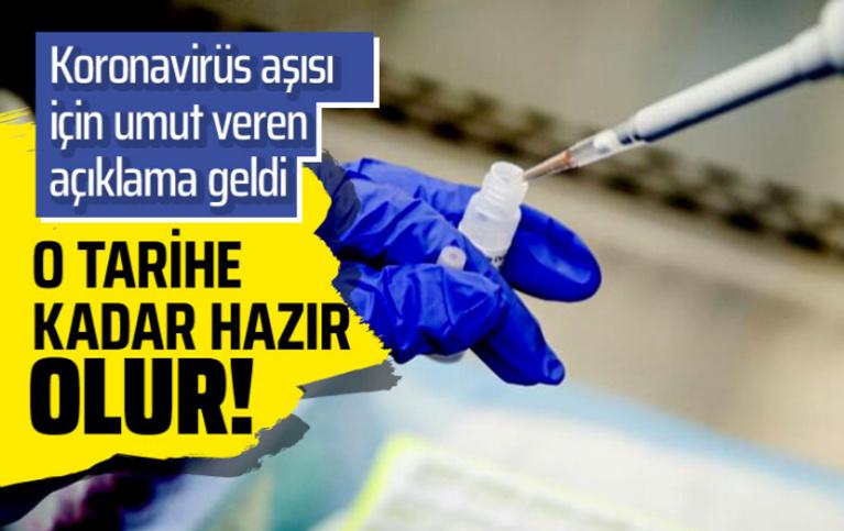 Korona aşısı yıl sonunda hazır olabilir