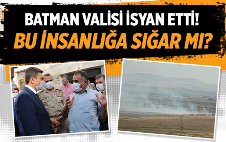Batman Valisi Şahin'den Diyarbakırlı çiftçilere anız yakma tepkisi