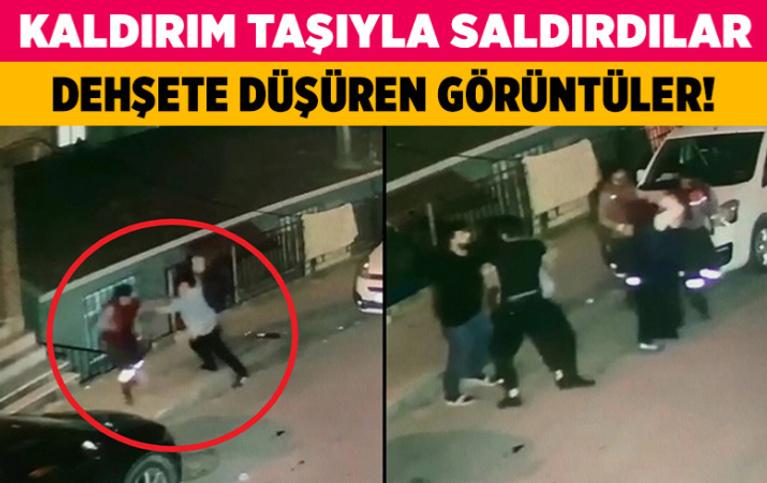 İstanbul Sultangazi'de temizlik işçisine kaldırım taşıyla saldırdılar
