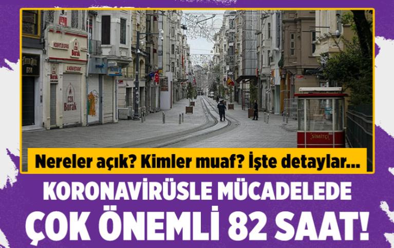 Türkiye genelinde 82 saat kesintisiz uygulanacak sokağa çıkma kısıtlaması başladı