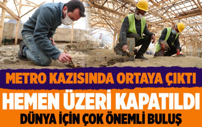 İstanbul'da metro inşaatında ortaya çıktı hemen üzeri kapatıldı! Dünya için çok önemli buluş