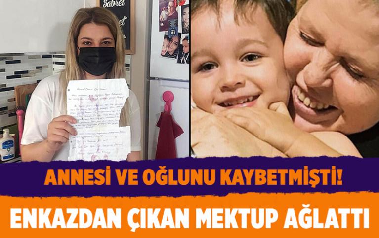 İzmir depreminde kaybettiği annesine 10 yıl önce yazdığı mektup enkazdan çıktı