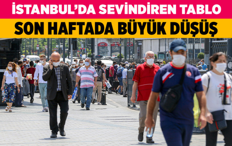 İstanbul'da son bir haftada koronavirüs vakalarında azalma kaydedildi