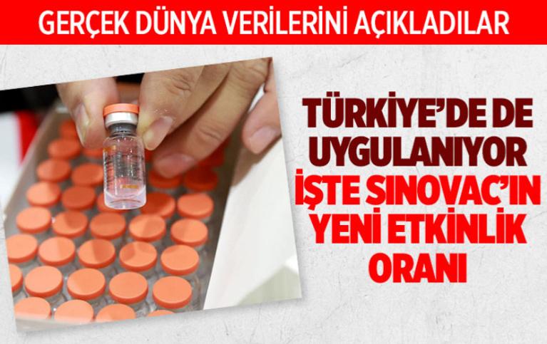Türkiye'de uygulanan Sinovac'ın Covid-19 aşısının yeni etki oranları açıklandı!