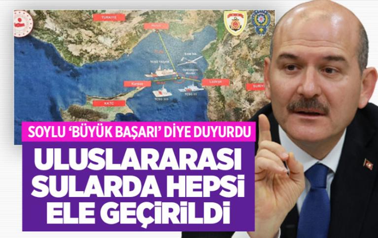 İçişleri Bakanı Süleyman Soylu 'Büyük bir başarıya imza atıldı' mesajıyla duyurdu! Hepsi ele geçirildi