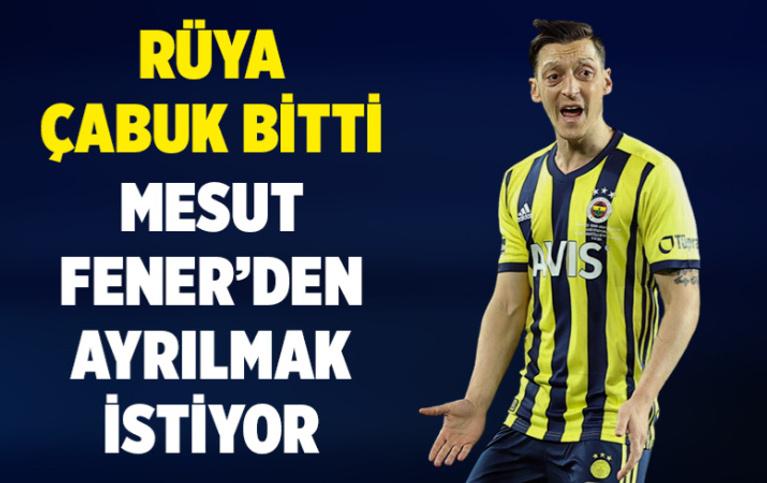 Mesut Özil'in Fenerbahçe'de mutsuz olduğu iddia edildi