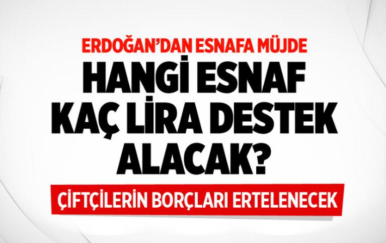Cumhurbaşkanı Erdoğan, esnafa destek paketini açıkladı! 3 bin ve 5 bin liralık hibe ödemesi