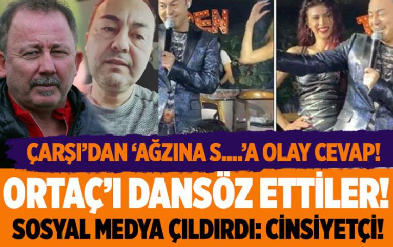 Beşiktaş çArşı Serdar Ortaç'a 'dansöz' kıyafeti giydirdi! Sosyal medyadan 'cinsiyetçi' tepkisi