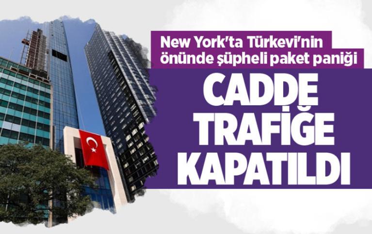 New York'ta Türkevi'nin önüne şüpheli paket bırakıldı
