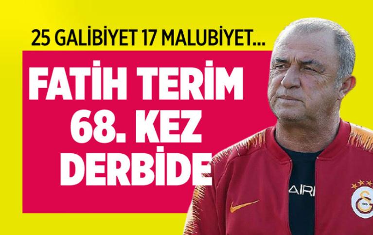 Fatih Terin 68. kez derbide görev yapacak! 25 galibiyet gördü