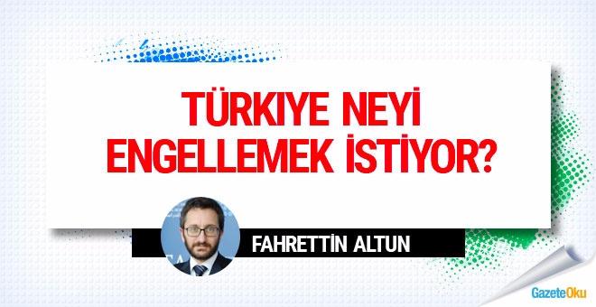 Türkiye neyi engellemek istiyor?