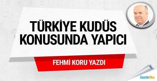 Türkiye Kudüs konusunda yapıcı