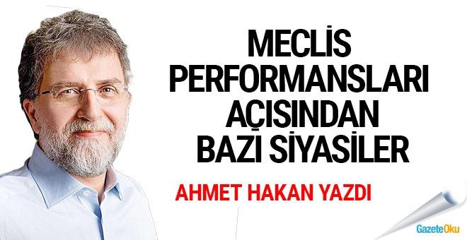 Meclis performansları açısından bazı siyasiler