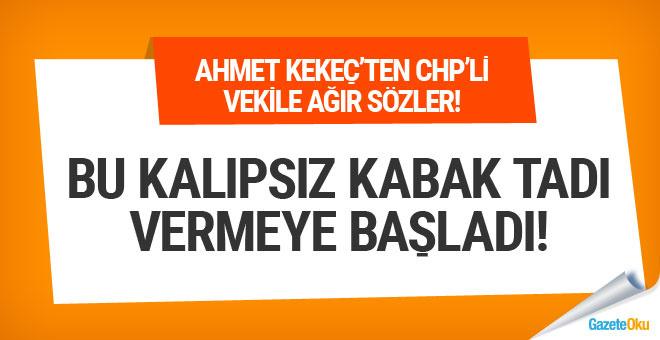 Ahmet Kekeç Mehmet Bekaroğlu'na zehir zemberek
