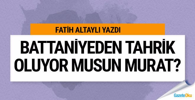 Fatih Altaylı Murat Bardakçı'ya çattı: Battaniyeden tahrik oluyor musun Murat!