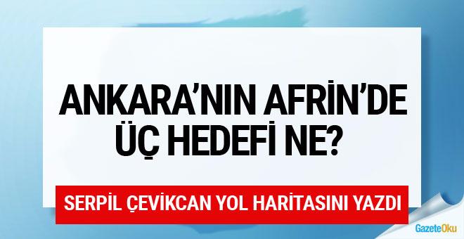 Afrin'de neler olacak? Ankara'nın 3 hedefi
