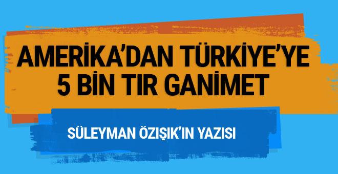 Amerika'dan Türkiye'ye 5 bin tır ganimet