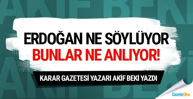 Erdoğan ne söylüyor bunlar ne anlıyor