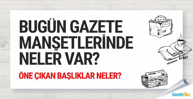 Gazete manşetleri 20 Mayıs 2018- Gazeteoku gazeteler bugün Cumhurbaşkanı Erdoğan'ın Netanyahu'ya cevabını manşetlere taşıdı.